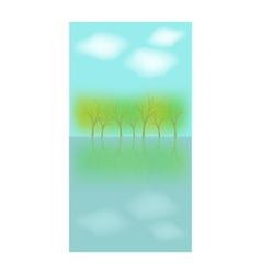 Landscape card vector image