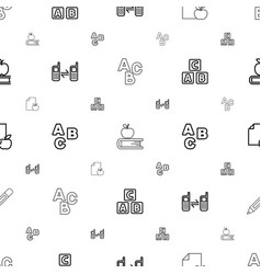 Learn icons pattern seamless white background vector