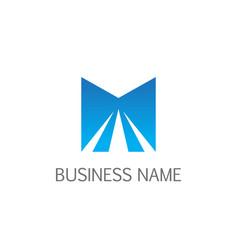 letter m shine logo vector image