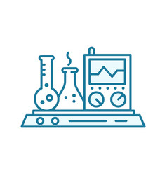 Measurement test analysis icon device chemistry vector