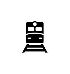 metro train flat icon vector image