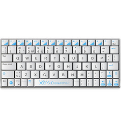 Modern white with blue laptop bluetooth keyboard vector