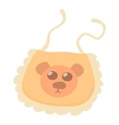 Orange baby bib icon cartoon style vector image