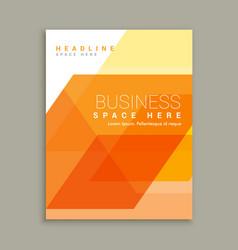 orange business magazine brochure template vector image