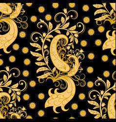 ornate seamless golden pattern vector image