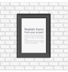 Photo frame brick wall vector