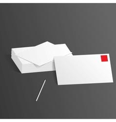 presentation template letterheads pen vector image