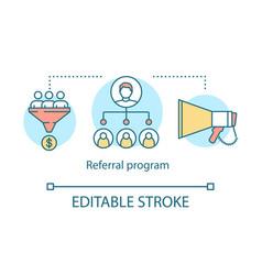 Referral program concept icon influencer viral vector