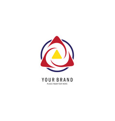 round swirl triangle logo vector image