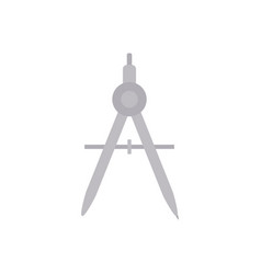 School compass flat style icon vector