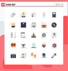 Set 25 modern ui icons symbols signs for ipod vector