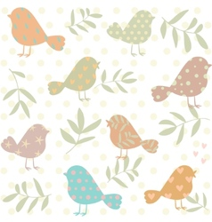 silhouette of birds pattern vector image