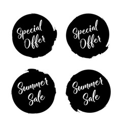 special offer in grunge style special offer vector image