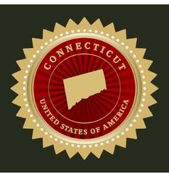 Star label Connecticut vector