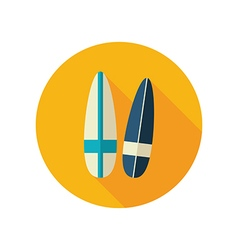 Surfboard flat icon Summer Vacation vector image