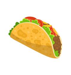 Traditional mexican food - taco delicious tacos vector