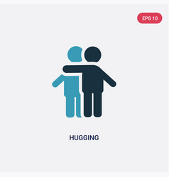 Two color hugging icon from people concept vector