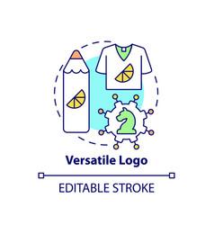 Versatile logo concept icon vector