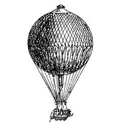 Vintage engraving a a hot air balloon vector