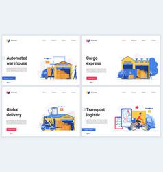 warehouse technology website vector image