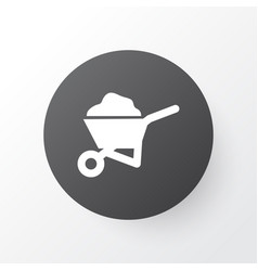 Wheelbarrow icon symbol premium quality isolated vector