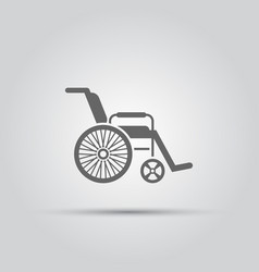 wheelchair isolated icon vector image