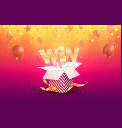 Win gambling advertising vector