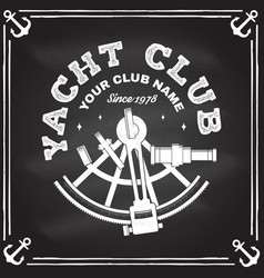 Yacht club badge concept for yachting vector