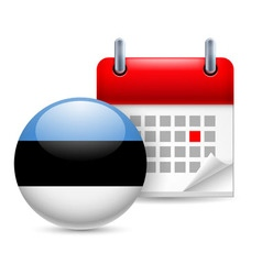 Icon of national day in estonia vector image