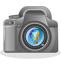slr camera on a white background with the vector image vector image