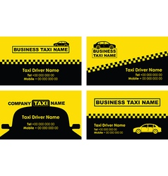 taxi business cards vector image