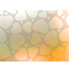Valentines day background with hearts EPS 8 vector image