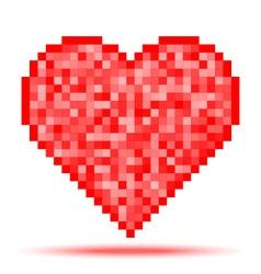 Heart Pixel Icon vector image vector image
