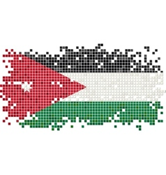 Jordan grunge tile flag vector image vector image
