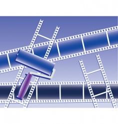 paint film set vector image