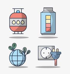 set electronics elements to use energy vector image