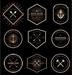 Vintage retro style badges vector