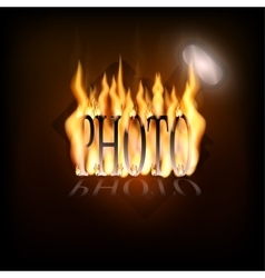 Flaming camera logo vector image
