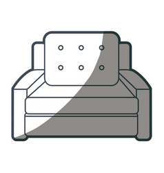 Armchair cushions furniture home image shadow vector