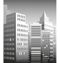city skyscrapers vector image