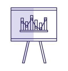 flipchart board isolated icon vector image