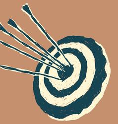Single Arrow Target vector image vector image