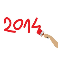 2014 year with paint color vector image