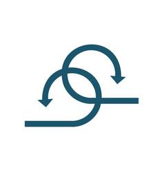 Abstract arrow concept logo sign symbol two icon vector
