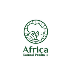 Africa natural products logo icon badge symbol vector
