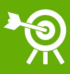 arrow hit the target icon green vector image