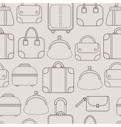 Bags Hand bags and Luggage for travel Seamless vector image