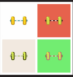 Barbell weight collection vector