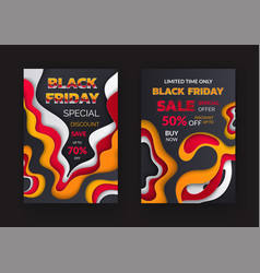 black friday sale special discount 70 percent off vector image