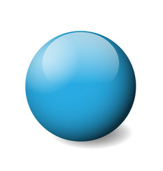 Blue glossy sphere ball or orb 3d object vector